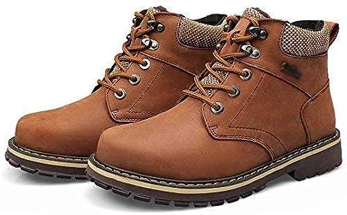 Hhoro botas Cortas más Grandes de Estilo clásico cálido de Invierno, de Estilo Masculino, 42, Negras (Color   -, tamaño   -)