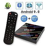 Android 9.0 TV Box H96 Max Plus 4GB 64GB RK3328 Quad Core 64 Bits Processor Smart 4K TV Box...