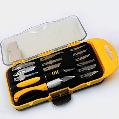 Juego de cuchillos de tallado, 12 piezas de SK5 Cuchillo de