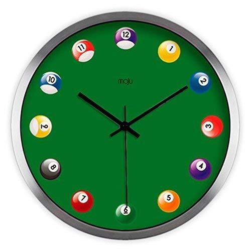 ZNZ Uhr, Wanduhr, Glocke, Uhren, Wecker, Wanduhr, Billard Creative Elongated Billiard Living Room Moderne Avantgarde Wanduhr Mute Quarzuhr finden