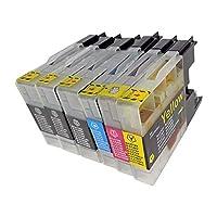 BROTHER LC12-4PK+BK2(BK3/C/M/Y) 6本セット 〈ブラザー〉良質互換インクカートリッジ ICチップ/残量表示/1年間保証付き 〈Chip製〉