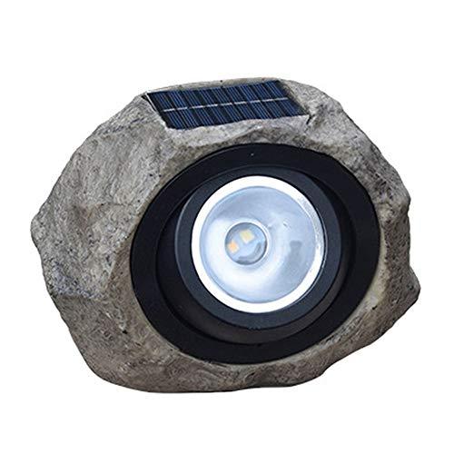 Promise2134 Solar-Solar-Lampen, Kunstharz, für Hof, Park, Dekoration, Boden-LED-Beleuchtung, Steinlampe