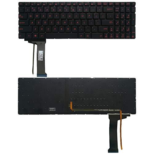 ASAMOAH Teclares de reemplazo de computadora US Teclado con Retroiluminación para ASUS GL551 GL551J GL551JK GL551JM GL551JW GL551JX G552V G552VW G552VX FZ50JX GL752VW GL742VW Accesorios portátiles