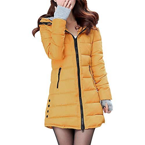 ASHOP Ropa Mujer, Chaquetas de Mujer Invierno reflectiva Abrigos Rojo Capa Jacket Parka Pullover (Amarillo,XL)