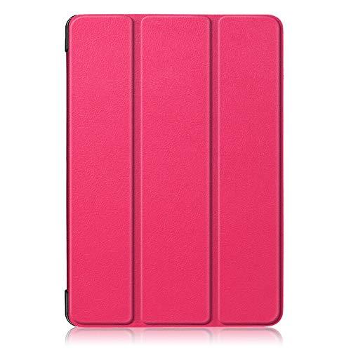 QiuKui Tab Funda para la lengüeta Un 10.1, Delgado magnético de Cuero Plegable de la PU del Soporte del Caso de Shell para Samsung Galaxy Tab 10.1 A 2019 T510 T515 T510 SM-SM-T515 (Color : Rose Red)