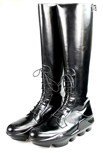 Prada Damen Schwarz Budapester Leder Stiefel 1W055G B4L F0002 39.5 EU