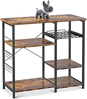 ODK 3-Tier Kitchen Storage Shelf with 10 S-Shape Hooks