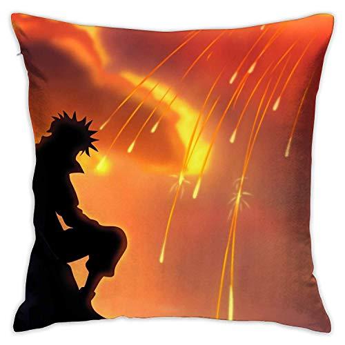 Naruto Minato Namikaze Pillowcase Cotton 18 x 18 Inches Double Sided Pillow Case Decorative Pillow Cover