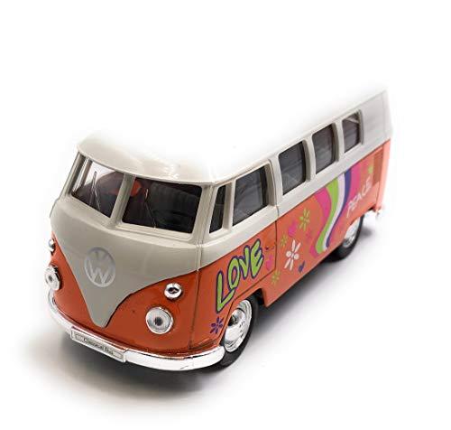 Onlineworld2013 Modelauto T1 Love Bulli bus Love Auto schaal 1:34-39 (gelicentieerd)