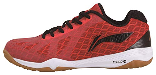 Li Ning Tischtennisschuh Cloudwalker in weiß und rot - APPP003 (rot, Fraction_44_and_1_Third)