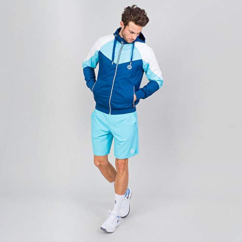 BIDI BADU Herren Sportjacke Atmungsaktiv Wasserfest Windschutz Tennis Training Blau - Keto Tech Windbreaker - Dark Blue/Aqua, Grˆfle:XXL