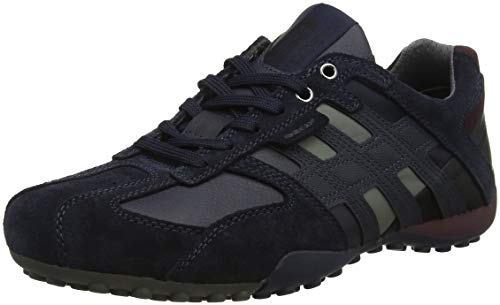 Geox Herren Uomo Snake K Sneaker, Blau (Navy C4064), 42 EU