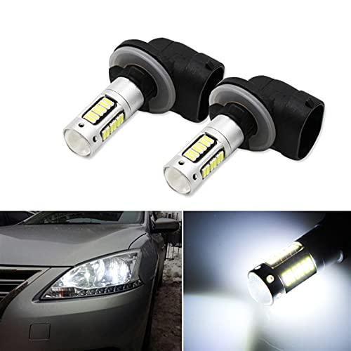RH-HPC Faros LED 2 unids H27 881 880 Bombilla LED 4014 30SMD Luces de Niebla DC12V 6000K Blanco Auto Niebla Lámpara de conducción Luces de Funcionamiento Bulbo Llevado
