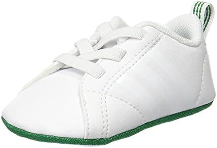 adidas Vs Advantage Crib, Zapatillas de Estar por casa Unisex niños, Blanco (Blanco 000), 17 EU