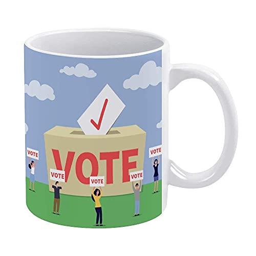 N\A Tazas de café Blanco de 11 onzas, Taza de Chocolate de cerámica con Signo de Voto Vermeil para Mujer, Jefe, Amigo, Empleado o cónyuge