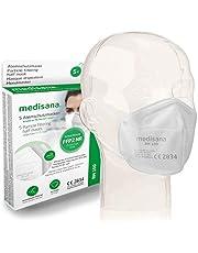 Medisana FFP2/KN95 5x Atemschutzmasken Staubmaske RM 100 Atemmaske 3-lagige Staubschutzmaske Mundschutzmaske einzelverpackt im PE-Beutel zertifiziert CE2834 - EU 2016/425