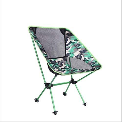TGTGH Sonnenliege Gartenstühle Terrasse Liegestühle Freizeitstuhl Klappstuhl Campingstuhl Ultraleicht mit Tragetasche Outdoor Camping Wandern kleiner Sitz Sonnenliege (Farbe: Armeegrün)