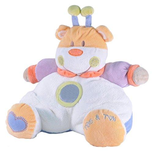 Tris&Ton Peluche osito infantil bebé niño niña, oso peluche 25 cm suave felpa modelo Vaquita (Trisyton)