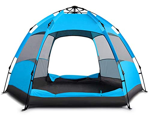 VIKOCELL Waterproof and lightweight for large families5 man tent,tents for camping waterproof,grow tent kit complete-blue_5-8 people Oxford PU 270x240x155cm