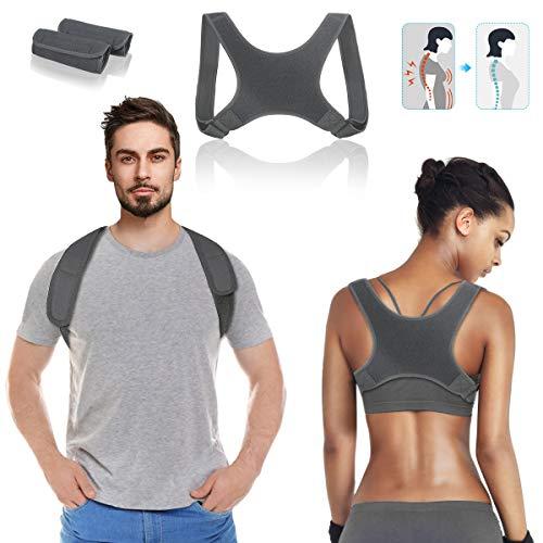 Haltungskorrektur, LIUMY Geradehalter zur Rücken, Haltungskorrektur Rücken Erwachsene und Jugendliche, jeden Moment & Szene korrekturen Rücken, Wirbelsäule und Nacken(grau)