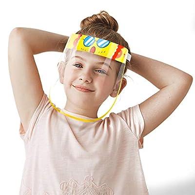 【Diseño para niños】Estas son 4 Pantallas Protectoras Faciales para niños con diferentes colores y estilos. Los lindos patrones harán que a tus hijos les gusten más. Diseñado para niños de 3 a 6 años. 【Uso no desechable】Visera protectora reutilizable....