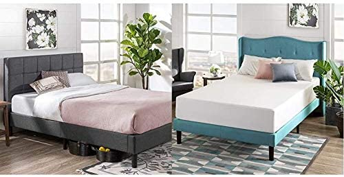 ZINUS Lottie Upholstered Platform Bed Frame Mattress Foundation Wood Slat Support No Box Spring product image