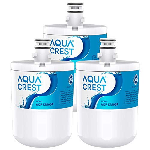 AQUACREST 5231JA2002A Refrigerator Water Filter, Compatible with LG LT500P, ADQ72910901, ADQ72910907, Kenmore 9890, 46-9890, GEN11042FR-08, LFX25974ST (Pack of 3)
