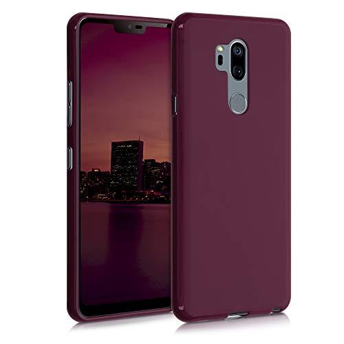 kwmobile Hülle kompatibel mit LG G7 ThinQ/Fit/One - Hülle Silikon - Soft Handyhülle - Handy Hülle in Bordeaux Violett