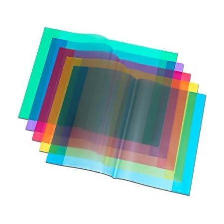 Farbe 10 Herlitz Heftumschl/äge//Hefth/üllen DIN A5 transparent gelb