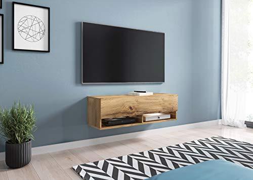 Mueble de TV LOWBOARD A 100 cm, Soporte para televisor, Mueble de televisión, Mueble de TV Colgante