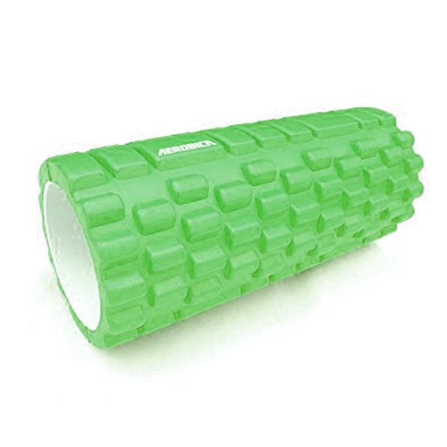Aerobica Foam Roller High Density EVA Hollow Grid, for Deep Tissue Massage - Ideal for CrossFit, Yoga & Pilates WITH FREE Carrying Bag (Green)
