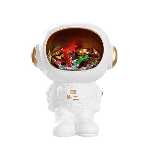 TAIDENG Astronauta Canasta de Almacenamiento Cesta de Galletas Jar Candy Plato Almacenamiento Easy Clean Bote Estatua Escultura Decoración Regalo Souvenir Decoración Decoración