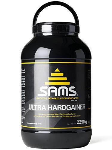 5000 Kalorien pro Tag – Mass Weight Gainer mit Whey Protein Isolat Pulver – Aufbaunahrung für maximale schnelle Gewichtszunahme – Muskelaufbau & Masseaufbau SAMS Ultra Hardgainer – Vanille 2250 g Dose
