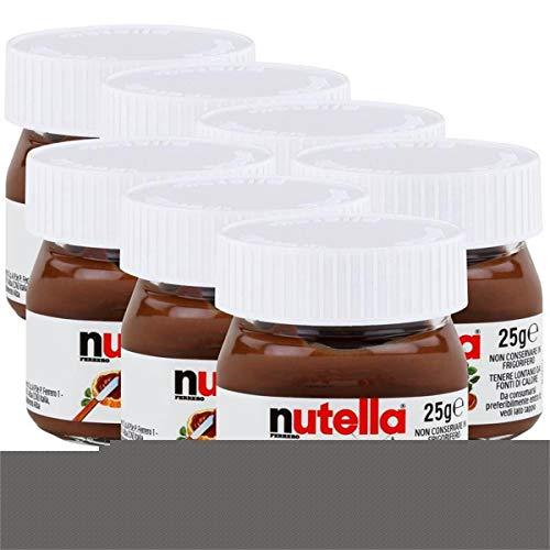7x Ferrero Nutella World Glas Brotaufstrich Schokolade 25g