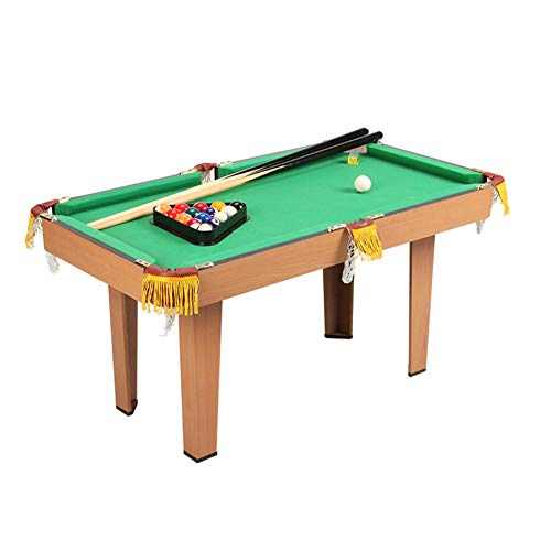%46 OFF! softneco Easily Assemble Tabletop Billiards with 2 Cues Chalk Rack,Mini Pool Table for Kids,Portable Billiard Table Game for Home Party A
