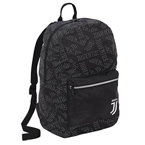 Juventus Zaino Ripieghevole - Disegno Scritte Sovrapposte - 100% Originale - 100% Prodotto Ufficiale - Dimensioni 30 x 45 x 13 cm - capacità 17,5 lt