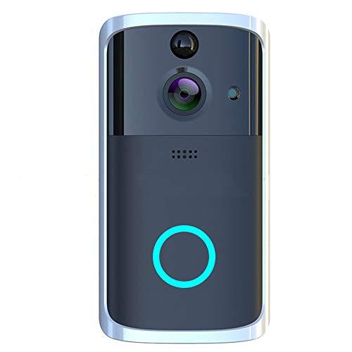 GAGYMJ WiFi video deurbel met camera draadloos, werkt op batterijen en transformator, infrarood nachtzicht, bewegingsmelder intercominstallatie, waterdicht, 166 graden groothoek HD-camera