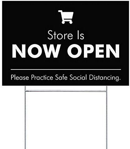 Department store GREATBIGCANVAS 10-Pack Store Open Black Bargain sale 27