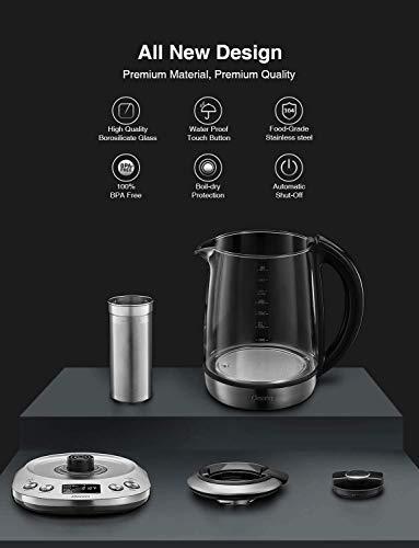 ocher-DECEN-Wasserkocher-Glas-Temperatureinstellung-40-100-Grad-17-Liter-2200-Watt-Warmhaltefunktion-Teekocher-mit-Temperaturanzeige