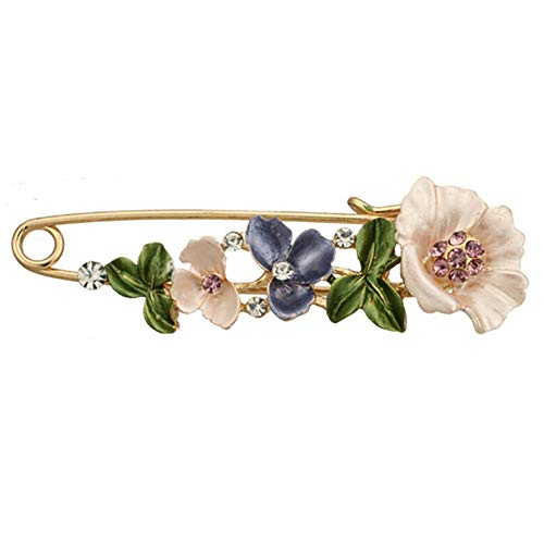 GDYX Broche Vintage Flower Rose Tulip Umbrella Orquídea Rhinestone Pin y Broche Collar de Solapa para Mujer Pin22
