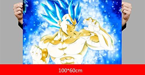TMEET Wandaufkleber, Dragon Ball Super Broreli Anime Poster, Gt Sun Wukong, Schlafsaal Schlafzimmer Übergroße Wandaufkleber Wandbild Selbstklebend, 12