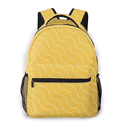 Lawenp Mochila Unisex de Moda Mochila con Textura Ondulada Mochila Ligera para portátil para Viajes Escolares Acampar al Aire Libre