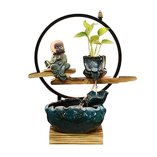 Fuente Agua Feng Shui Fuente de escritorio de la fuente de la mesa de la tableta de agua de roceador interior Fest de la rueda de la rueda de la oficina para el hogar Decoración del dormitorio de la o