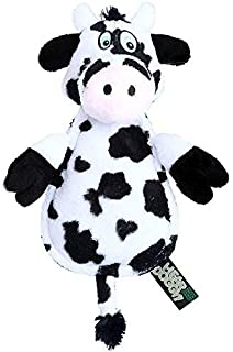 GoDog Hear Doggy Cow with Chew Guard Technology Dog Toy Large