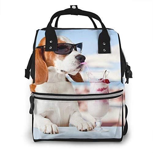 Bolsa de pañales Beagle para vacaciones, impermeable, multifunción, bolsa para pañales de maternidad, duradera, gran capacidad para mamá, papá, viajes, cuidado del bebé