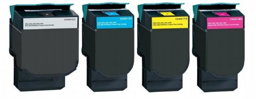 4X Eurotone Toner für Lexmark Optra C540N C543DN C544N X543DN X544DN C546 X546 X548
