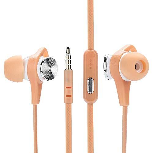 Headset Auricolari Stereo da Gioco cablati per Giocatori Professionali, 3,5 mm con Microfono, Bassi Stereo in-Ear