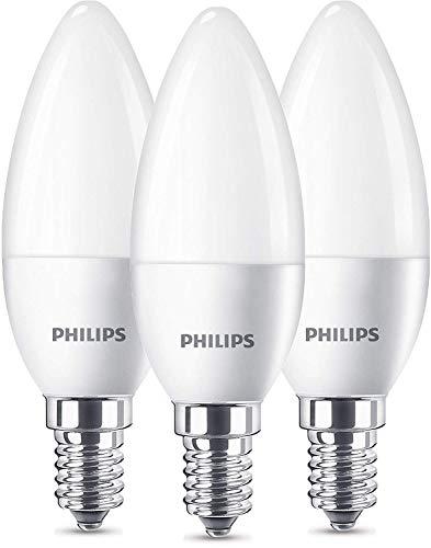 Philips 8718696761281 A+, LED 40W B35 E14 WW FR ND 3BC/6, Plastik, 5.watts, E14, matt, 3.5 x 3.5 x 10.6 cm