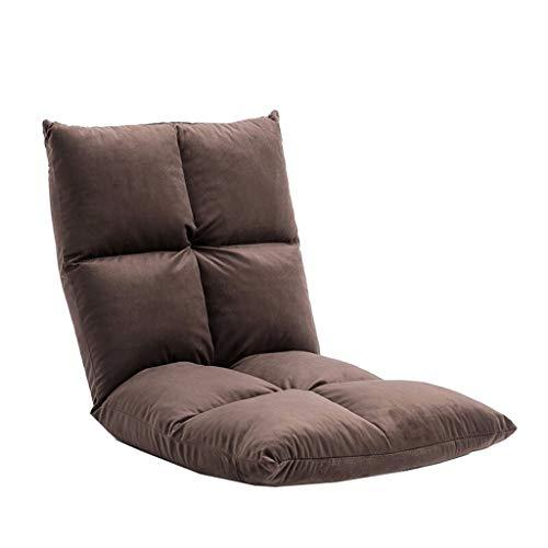 Canapé Paresseux Moderne Pliable, Tapis De Sol Multi-angle Pour Plancher De Lit (Color : Brown)