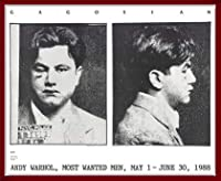 ポスター アンディ ウォーホル Most Wanted Men No. 2 John Victor G 額装品 ウッドベーシックフレーム(レッド)